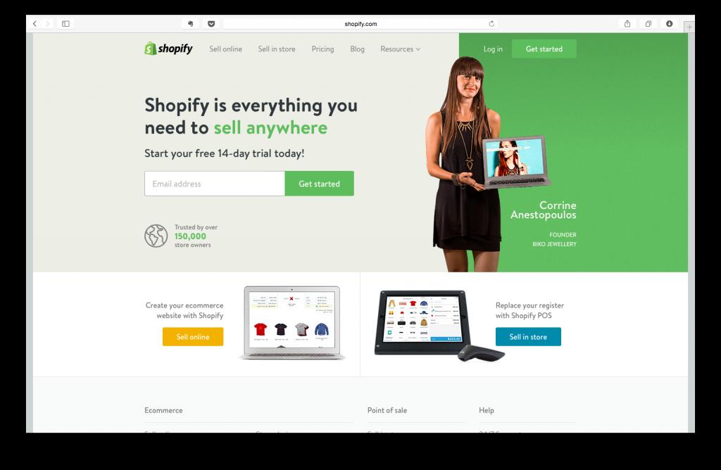 Shopify Karşılama Sayfası