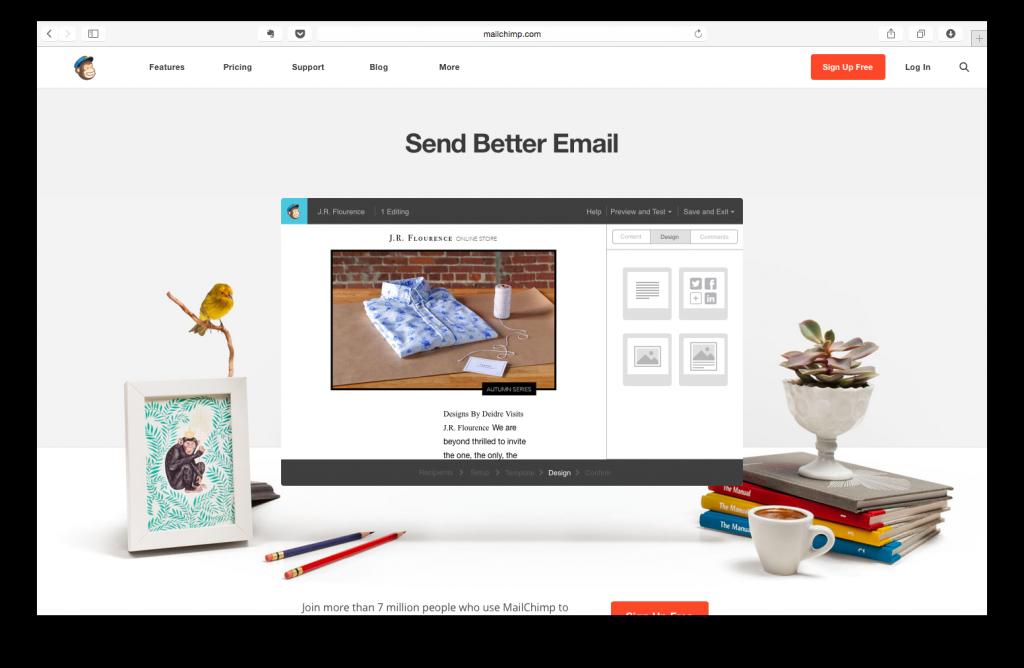 MailChimp Karşılama Sayfası