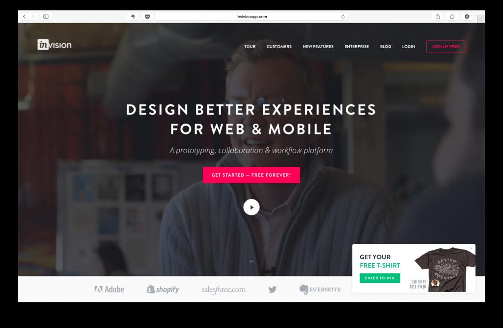 Invision Karşılama Sayfası