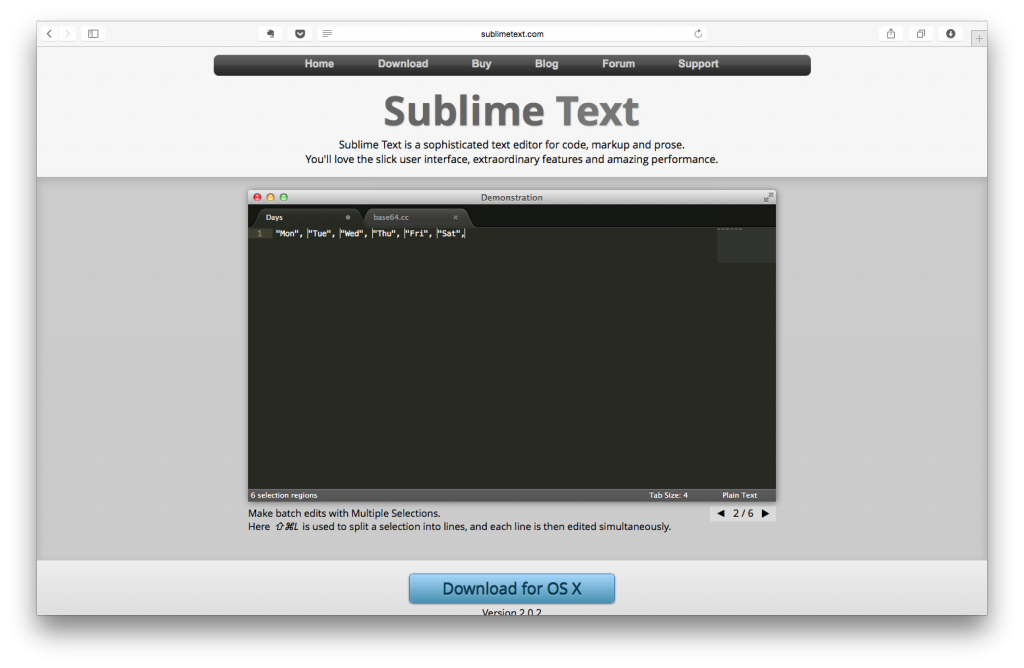 Sublime Text Karşılama Sayfası