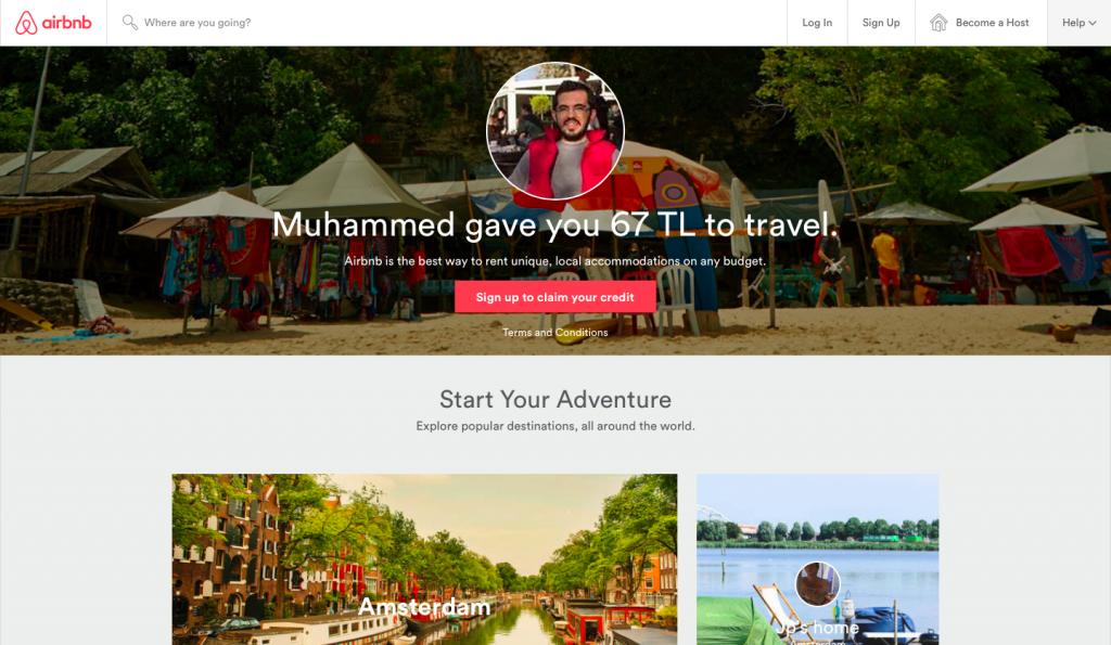 Airbnb Davet Karşılama Sayfası
