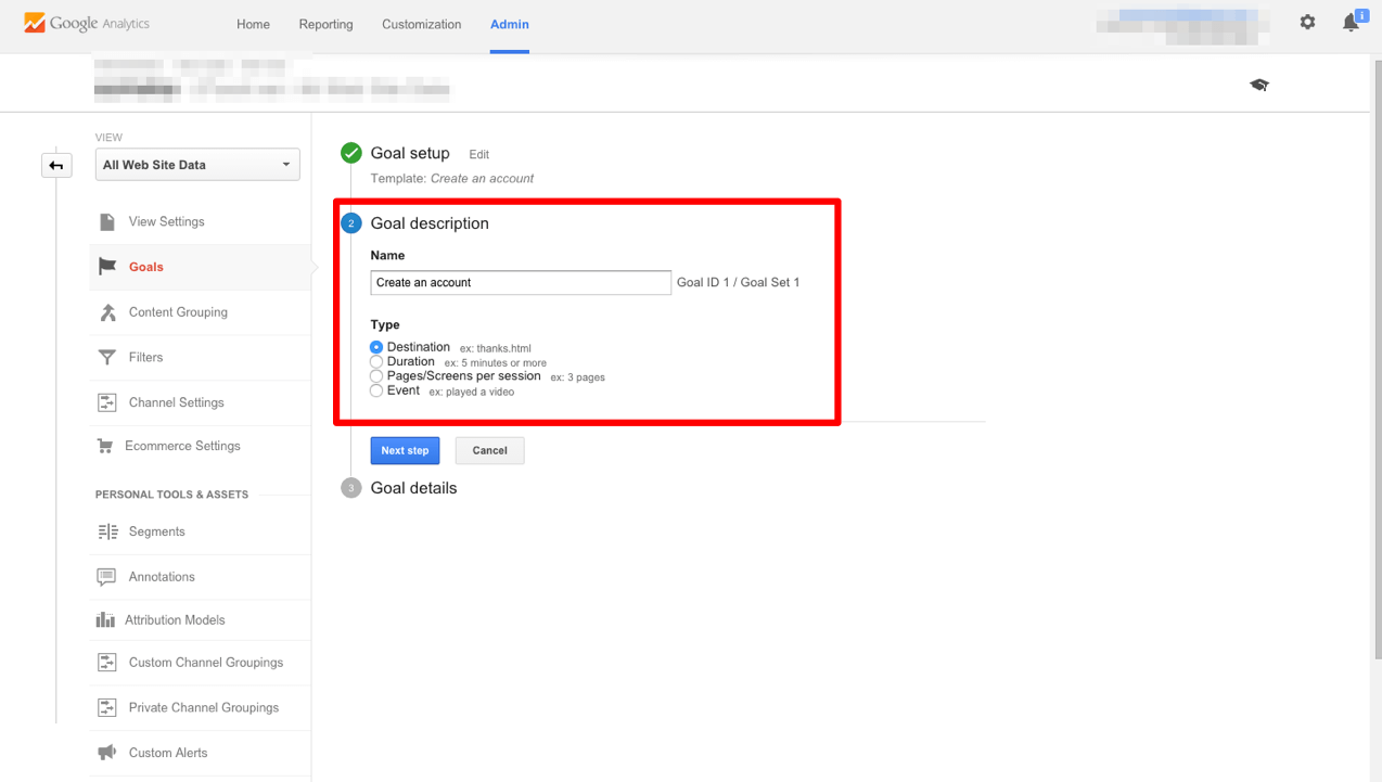 Google Analytics Goal Tanılama - 2
