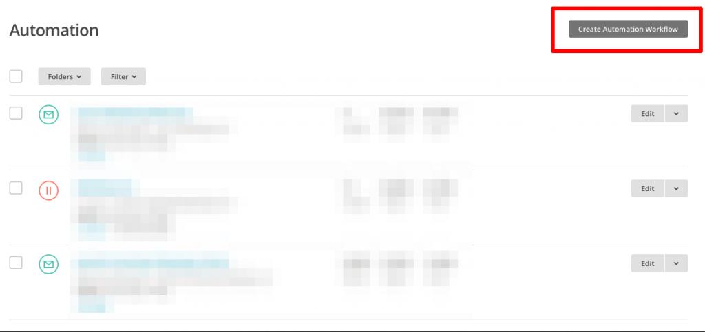MailChimp Automation Yaratma
