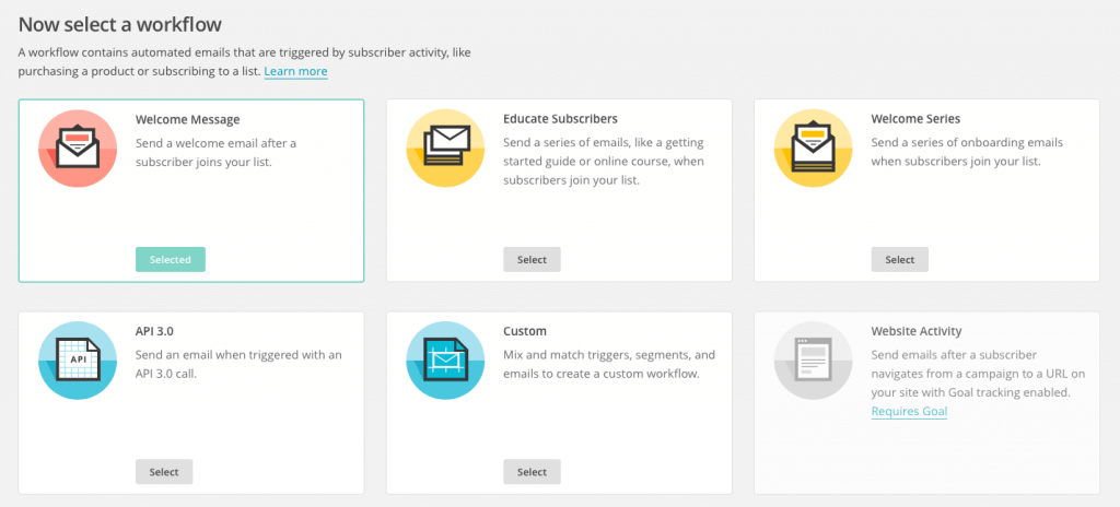 MailChimp Automation Türleri