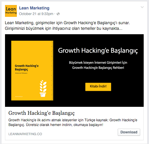 Facebook Lead Ads Example