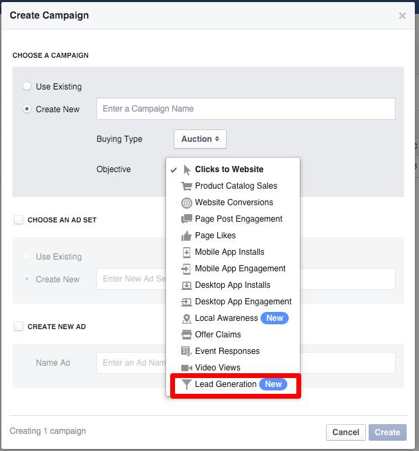 Facebook Reklam Türleri