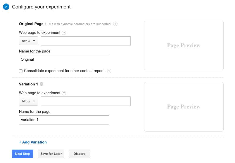 Google Analytics A/B Testing