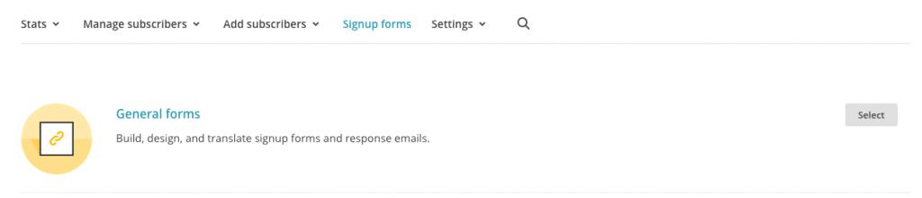 MailChimp Form