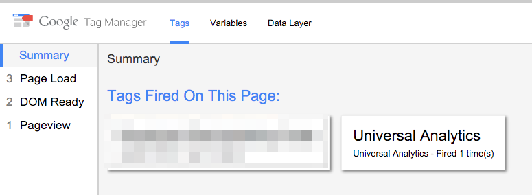 Google Tag Manager - Preview Result