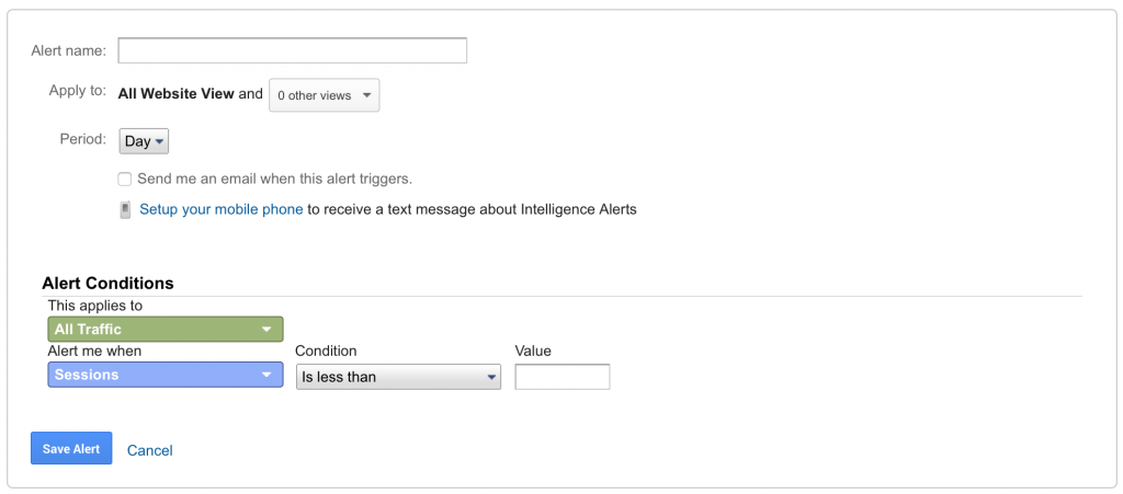 Google Analytics - Custom Alerts