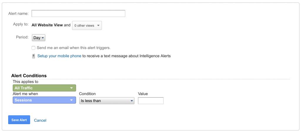 Google Analytics - Custom Alerts