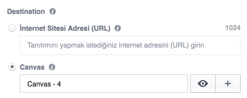 Facebook Canvas Ads Seçimi