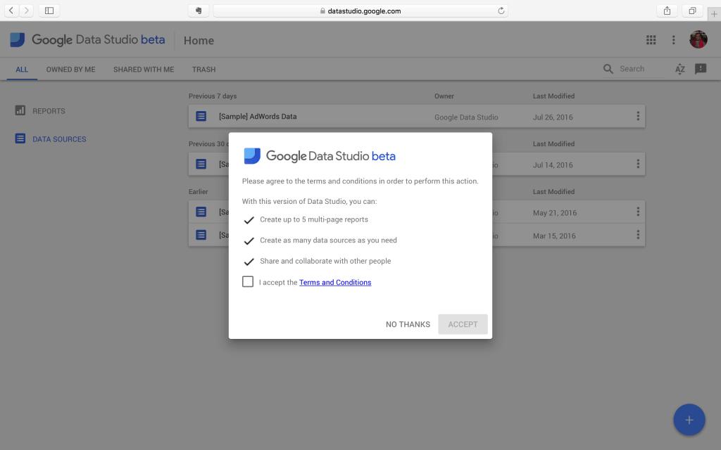 Google Data Studio Başlangıç